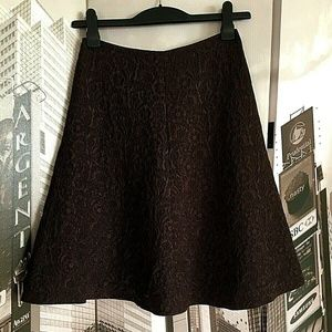 MaxMara Wool Brown Skirt Size USA 2